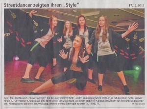 "ProFiliis unterstützt Dance Contest ""Sow Me Ya Style"""
