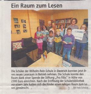 Neue Schülerbücherei an der Wilhelm-Rein-Schule