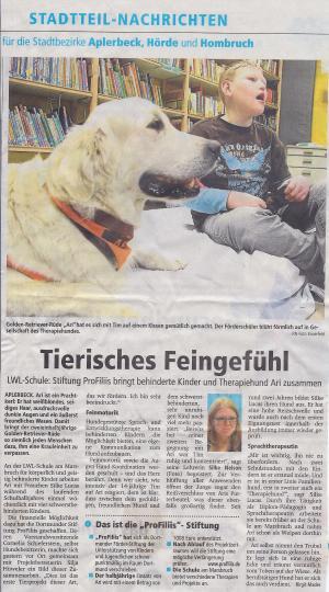 Hundgestützte Therapie an der Schule am Marsbruch
