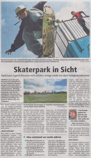 Arbeiten im Skatepark gehen voran!
