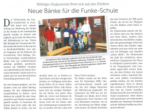 ProFiliis ermöglicht Bau einer Boulderwand an der Funke-Grundschule