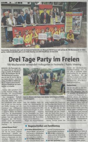 ProFiliis unterstützt TBV-Wochenende bei Mengede 08/20