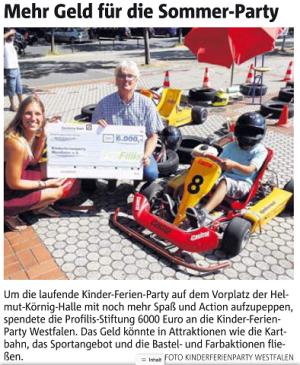 Kart- und Bimmelbahn für die Kinder-Ferien-Party 2015
