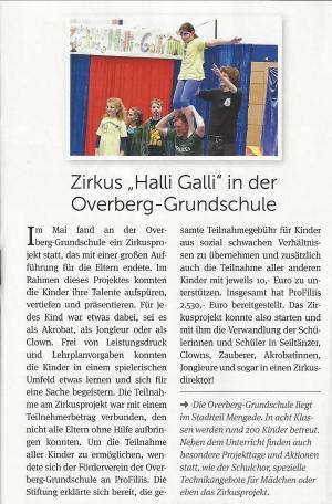 Zirkusprojekt an der Overberg Grundschule