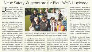 Neue Tore für DJK Blau-Weiß Huckarde