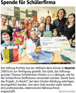"""ProFillis unterstützt Schülerfirma """"Stoffträume"""""""