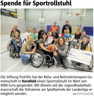Allrounder-Sportrollstuhl für RBG Dortmund 51