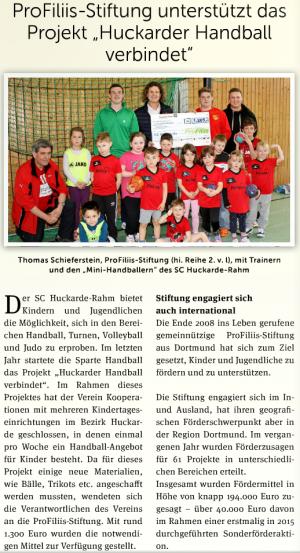 ProFiliis unterstützt den SC Huckarde-Rahm
