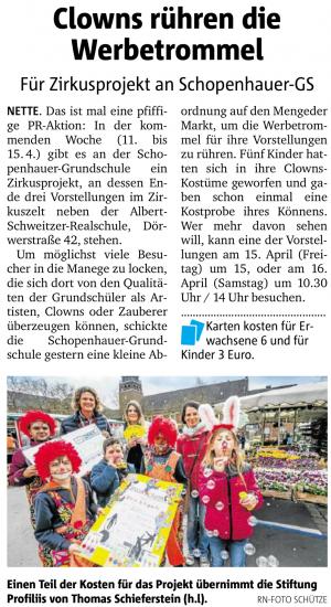 Zirkusprojekt an der Schopenhauer-Grundschule
