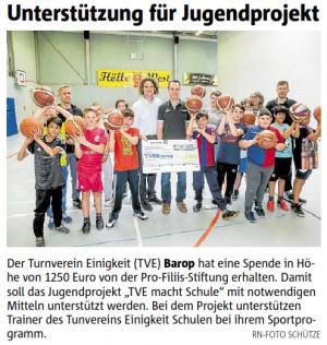 ProFiliis unterstützt TVE Dortmund-Barop