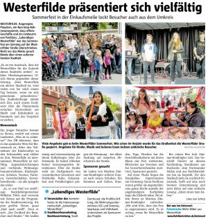 ProFiliis unterstützt Sommerfest in Westerfilde