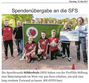 Sportfreunde Sölderholz bauen Torwand