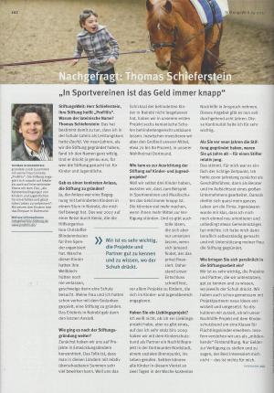Interview mit Thomas Schieferstein in der StiftungsWelt