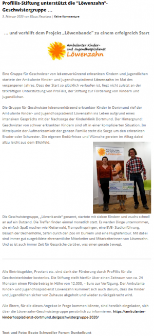 """Geschwistergruppe """"Löwenbande"""""""