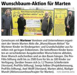 Wunschbaum-Aktion für Marten