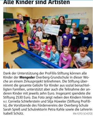 Zirkusprojekt an der Overberg-Grundschule