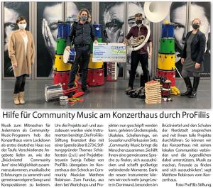 Community Music im Konzerthaus Dortmund