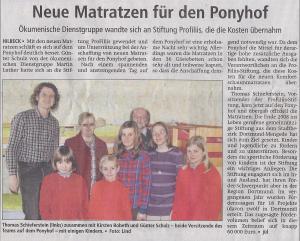 Neue Matratzen für den Ponyhof Hilbeck