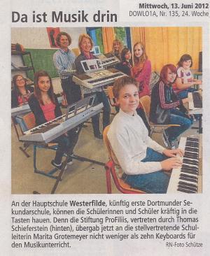 Keyboards für die Hauptschule Westerfilde