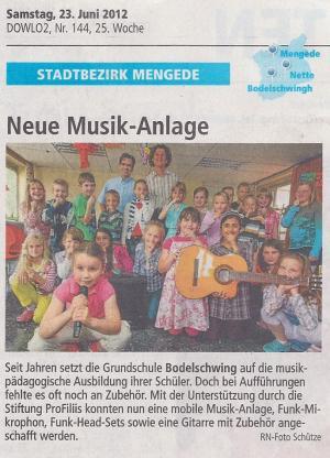 Musikanlage für die Grundschule Bodelschwingh