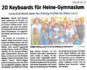 Keyboards für das Heinrich-Heine-Gymnasium