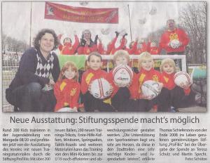 ProFiliis unterstützt die Jugendabteilung von Mengede 08/20