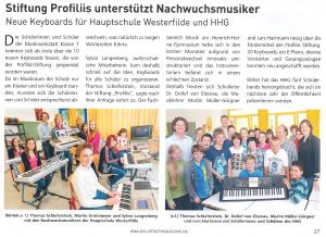 Keyboards für die Hauptschule Westerfilde und das Heinrich-Heine-Gymnasium