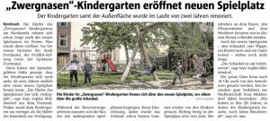 """Neuer Spielplatz für die """"Zwergnasen"""""""